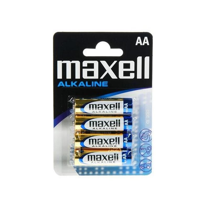 Maxell Pila Alcalina 1.5V Tipo AA Pack4