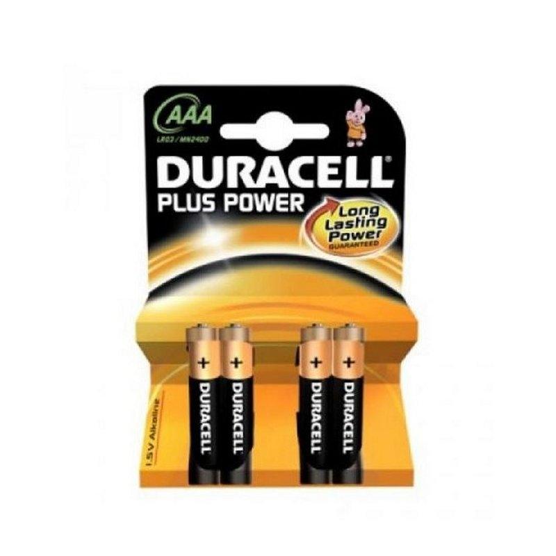 Duracell Pila Alcalina Plus Power LR3 AAA Pack-4