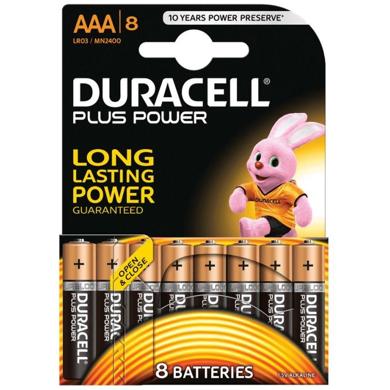 Duracell Plus Power Pila Alcalina AAA LR03 Pack 8