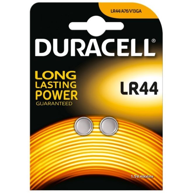 Duracell Pila Botón Alcalina LR44 1