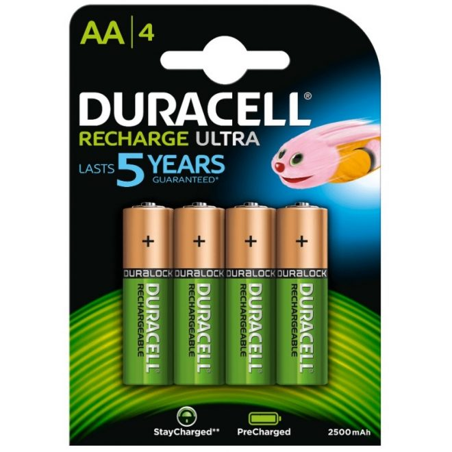Duracell Pila Recargable HR6 AA 2400mAh Blister*4