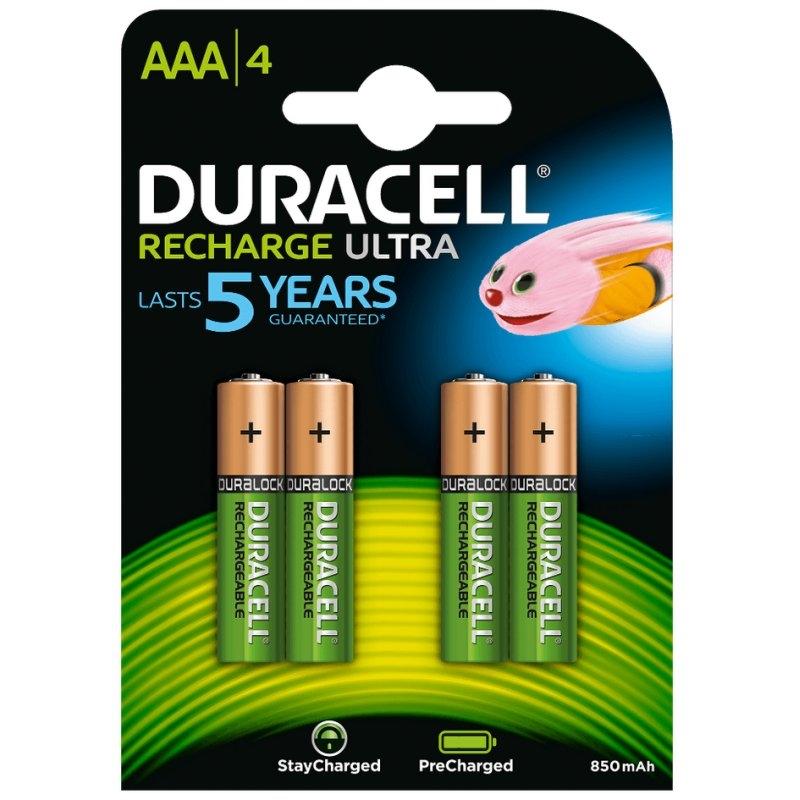 Duracell Pila Recargable HR03 AAA 800mAh Blister*4