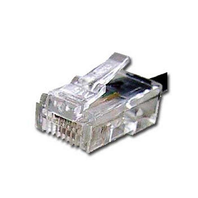 iggual Conector Telefónico Oro RJ11 6P4C (15 uds.)