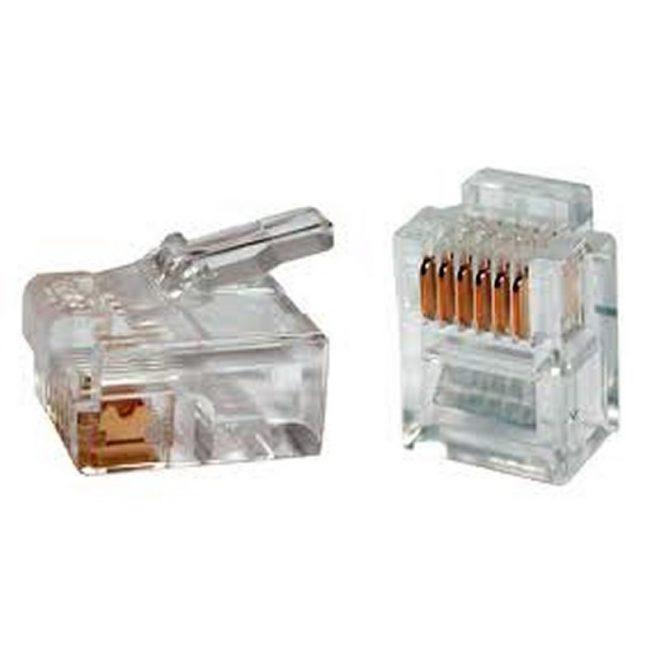iggual Conector Telefónico Oro RJ11 6P6C (100 uds)