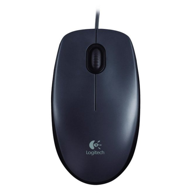 Logitech M90 ratón óptico 1000dpi USB negro