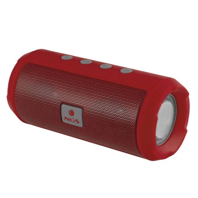 NGS Altavoz Inalámbrico 6W FM USB 1200MAH Rojo