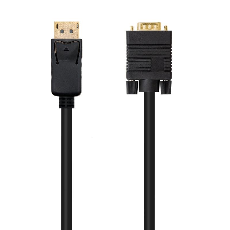 Cable conversor DP a VGA negro