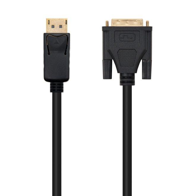 Cable conversor DP a DVI negro