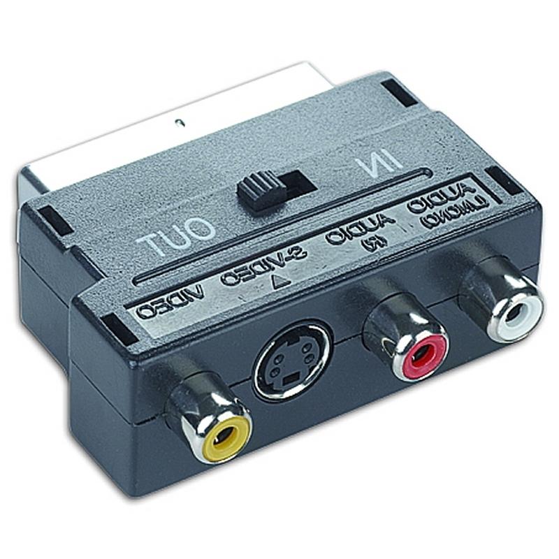 Gembird Adaptador Euroconector a RCA/SVideo