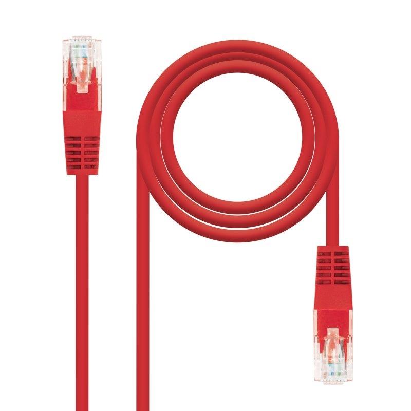 Latiguillo Categoria 5E UTP 1 Metro Rojo