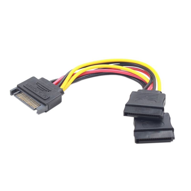 Gembird Cable Alimentación SATA Plano 0.15 Mts