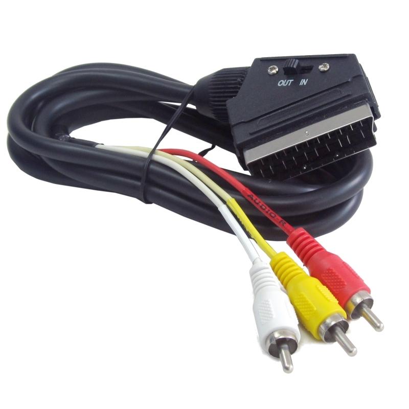 Gembird Cable 3xRCA Eurocon. SCART Bidirecc. 1.8Mt