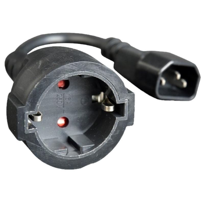 Gembird Cable Alimentación Adap. C14(M) a Schuko(H
