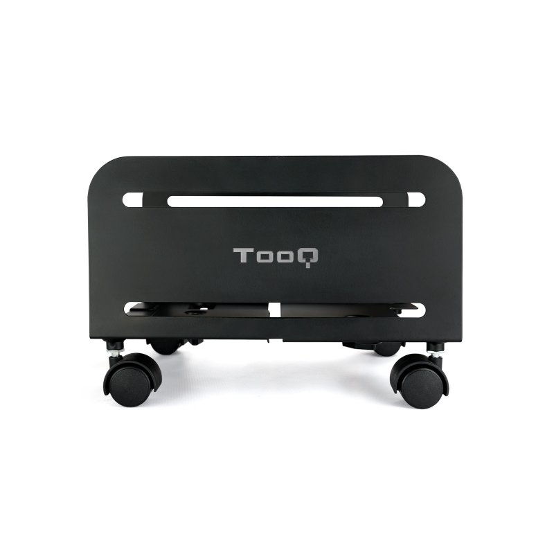 TooQ Soporte para cpu de suelo con ruedas negro