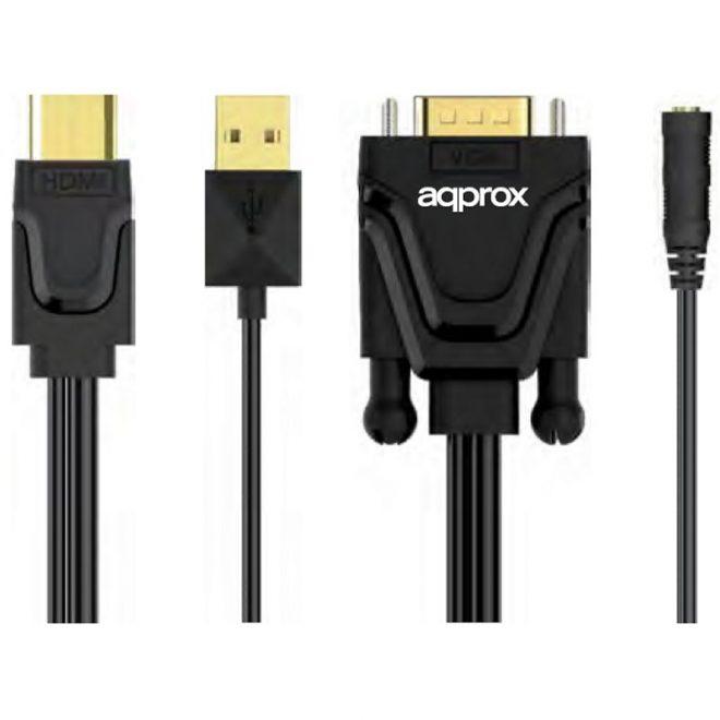 approx APPC22 Adaptador HDMI A VGA + Sonido+ Video