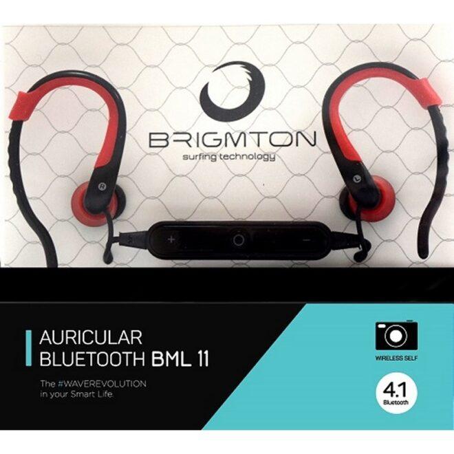 Brigmton Auricular+Mic BML-11-R Bluetooth Rojo